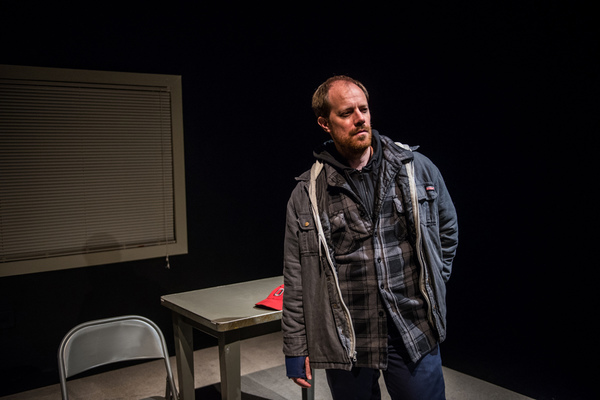 (pictured) Actor and playwright Michael Milligan in MERCY KILLERS. Photo by Daylon Wa Photo