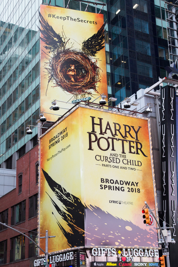 Up on the Marquee: HARRY POTTER AND THE CURSED CHILD Apparates in Times Square!