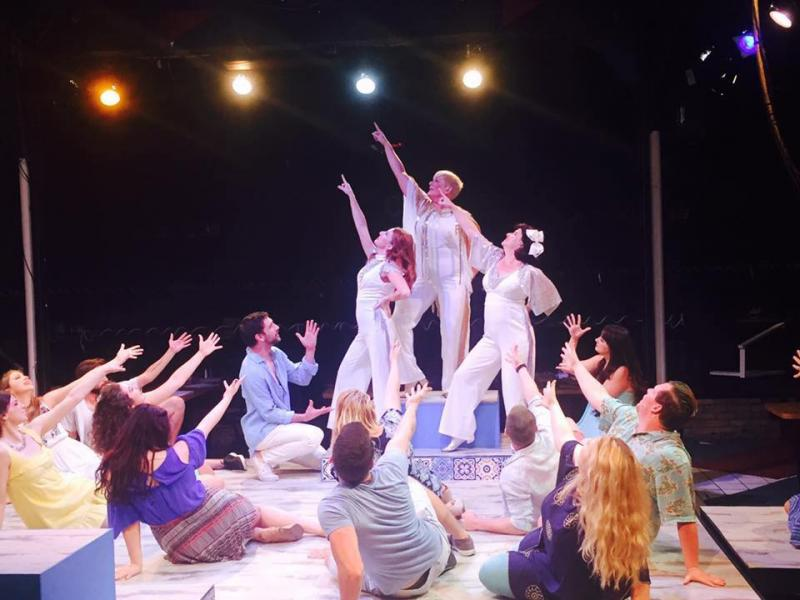 BWW Review: Gorgeous MAMMA MIA! Takes the Chaffin's Barn Stage in High-Flying Style
