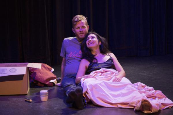 Joseff Stevenson and Michelle Jasso in Kenneth Jones' new play Hollywood, Nebraska, g Photo