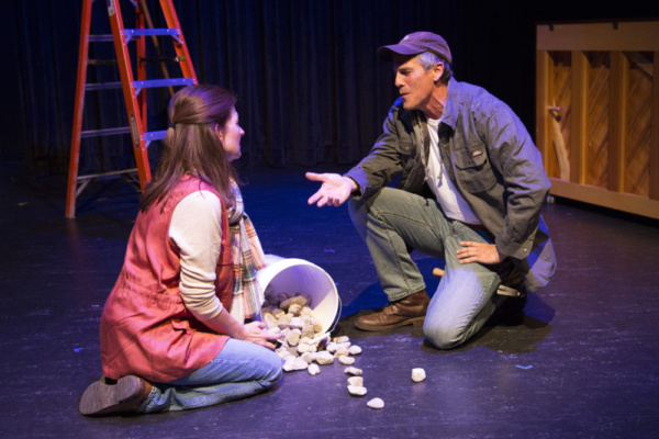 Elizabeth Howell and Dean Biasucci in Kenneth Jones' new play Hollywood, Nebraska, getting a workshop production Sept. 8-16, 2017, at Wyoming Theater Festival in Sheridan, WY. Scott Alan Evans directs. Photo by Dennis Jacobs. wyotf.com