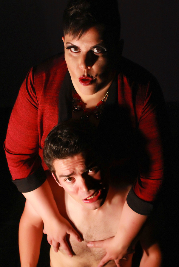 Suzan M. Jacokes (top) stars as Dr. Frank N. Furter and Nick Yocum (below) is Rocky i Photo