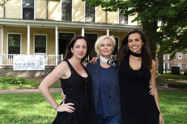 Brooke M. Haney (Artistic Producer and Director of the Apprentice Program), Natalie Burlutskaya (Art Curator), and Aubrey Saverino (Artistic Director). Photo Credit: Anna Nicole
