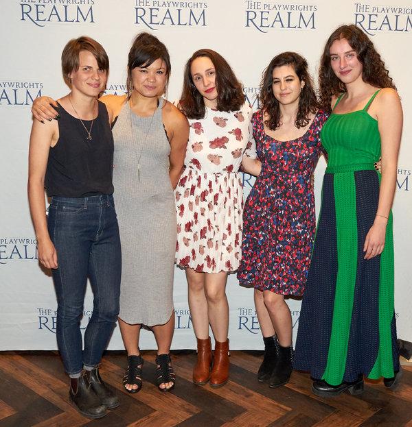 Sarah DeLappe, Lizzy Jutila, Lauren Patten, Tedra Milan and Brenna Coates  Photo
