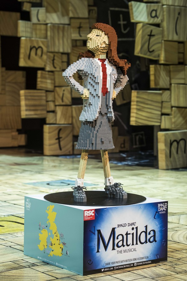 LEGO build of Matilda in honor of Roald Dahl Day Photo