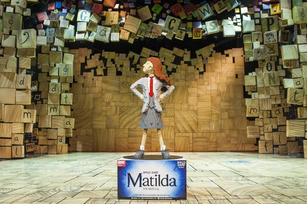 LEGO build of Matilda in honor of Roald Dahl Day