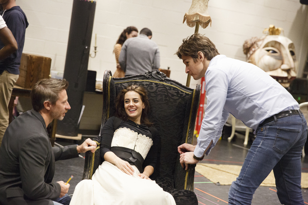 Associate Director Gavin Mitford with Meghan Picerno (Christine Daae) and Gardar Thor Cortes (The Phantom)