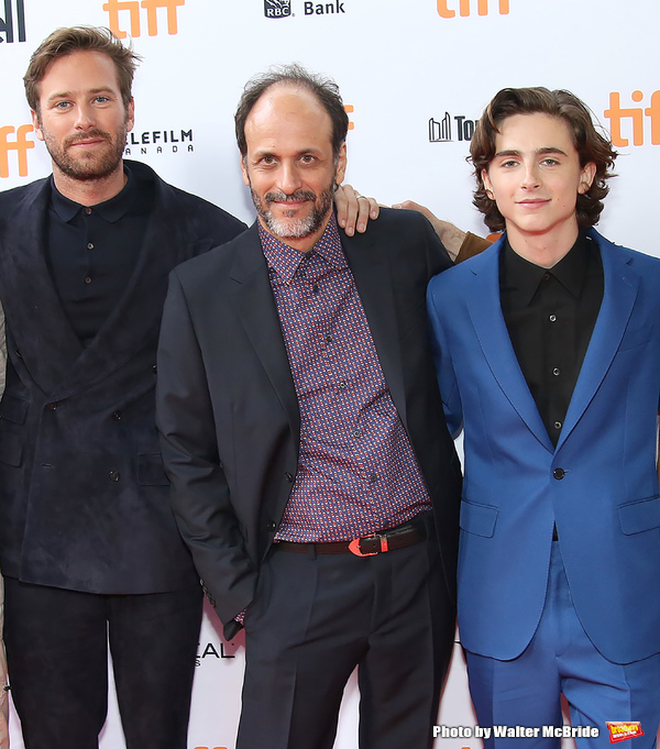 Armie Hammer, Luca Guadagnino and Timothee Chalamet  Photo