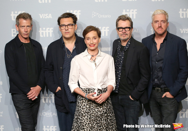 Stephen Dillane, director Joe Wright, Kristin Scott Thomas, Gary Oldman and screenwri Photo
