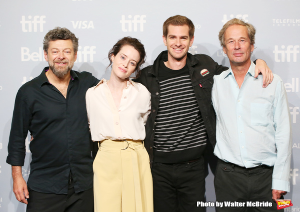 Andy Serkis, Claire Foy, Andrew Garfield and Jonathan Cavendish