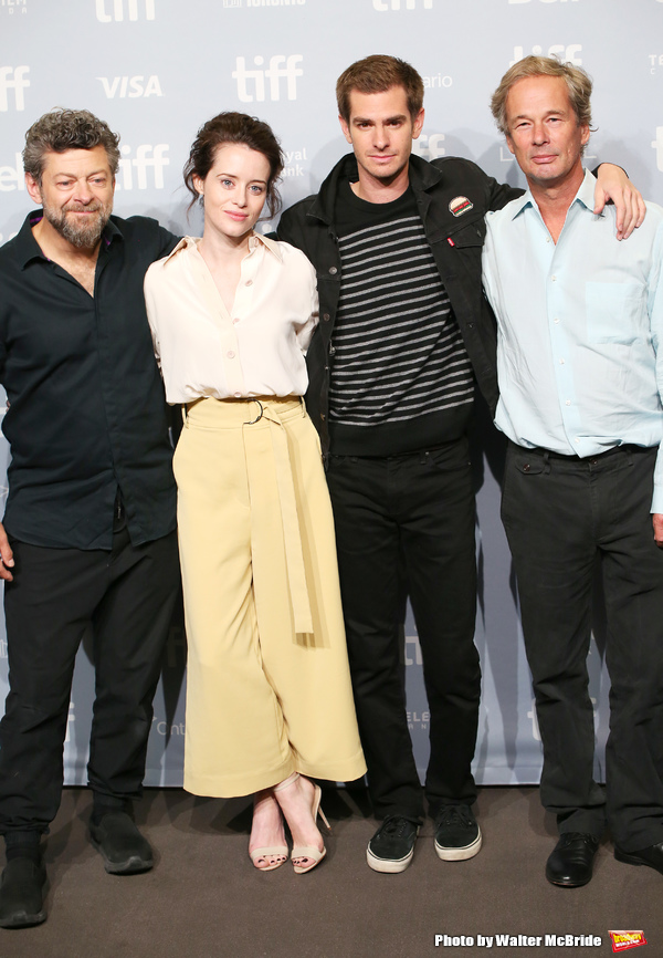 Andy Serkis, Claire Foy, Andrew Garfield and Jonathan Cavendish Photo