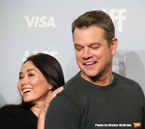 Hong Chau and Matt Damon Photo