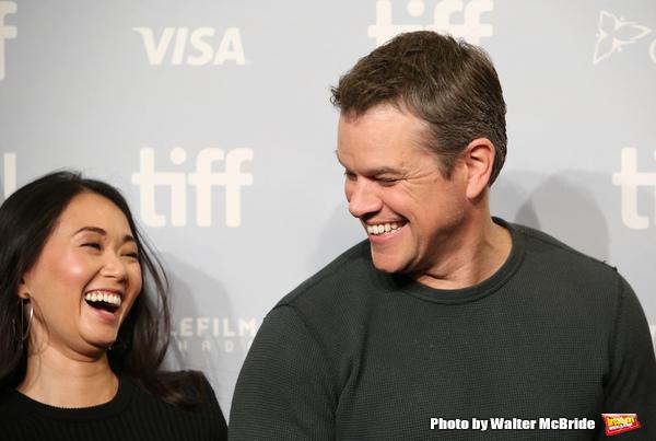 Hong Chau and Matt Damon