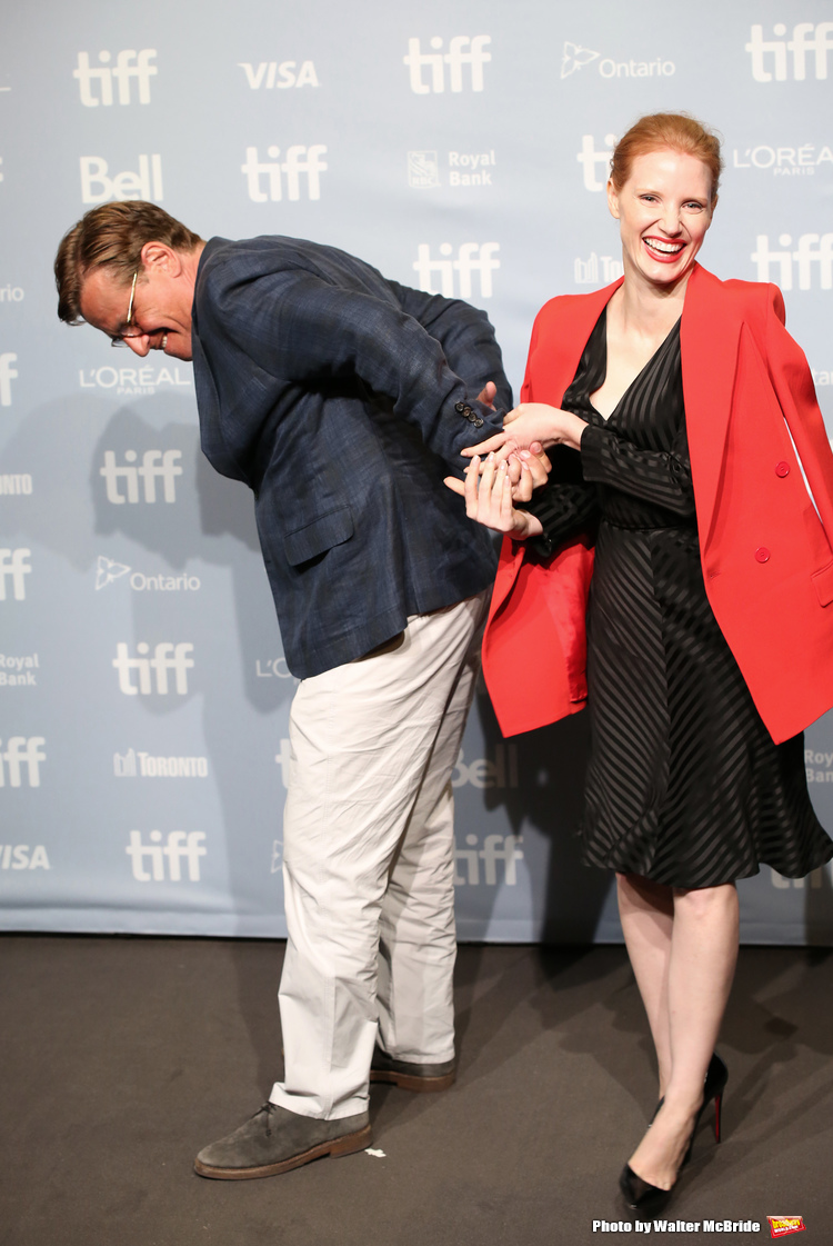 High Res Aaron Sorkin and Jessica Chastain