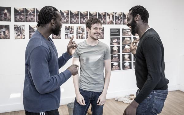 Theo Ogundipe, Michael Shea and Sule Rimi