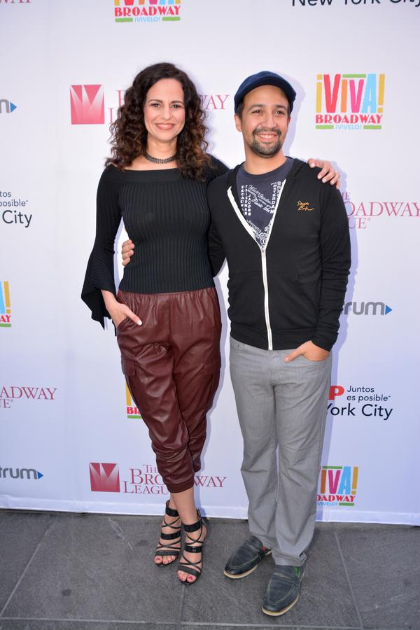 Mandy Gonzalez and Lin-Manuel Miranda