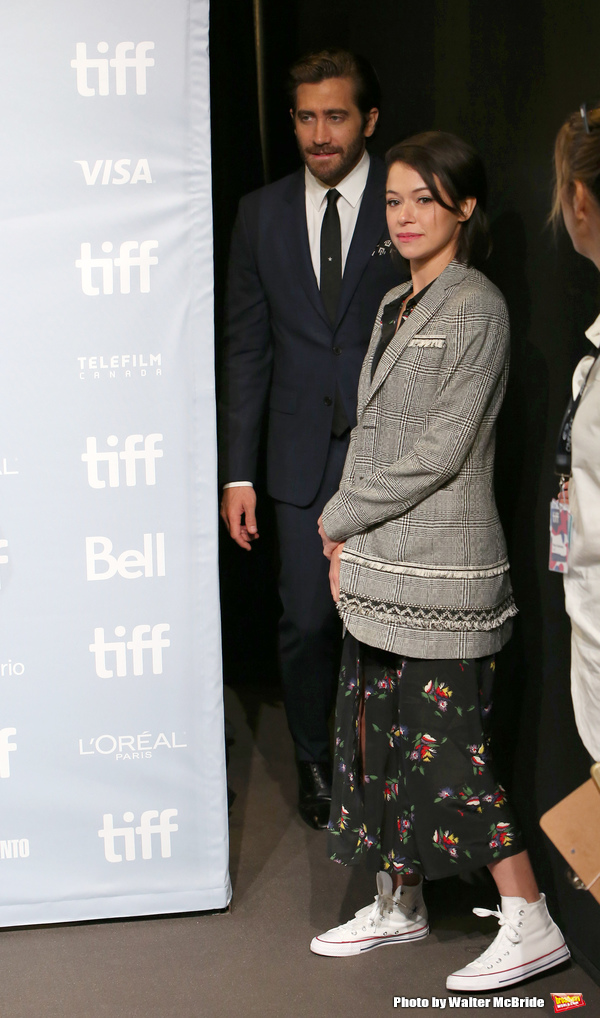 Photo Coverage: Jake Gyllenhaal, Tatiana Maslany, and More from STRONGER Meet the Press