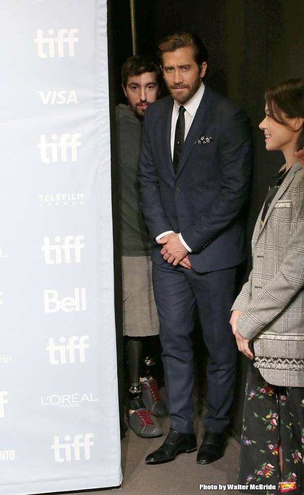 Jeff Bauman, Jake Gyllenhaal and Tatiana Maslany