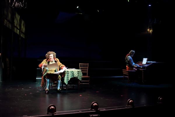Preston Dyar as Salieri and Nat Zegree as Mozart