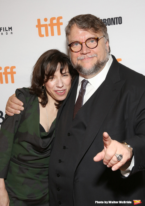 Sally Hawkins and Guillermo del Toro