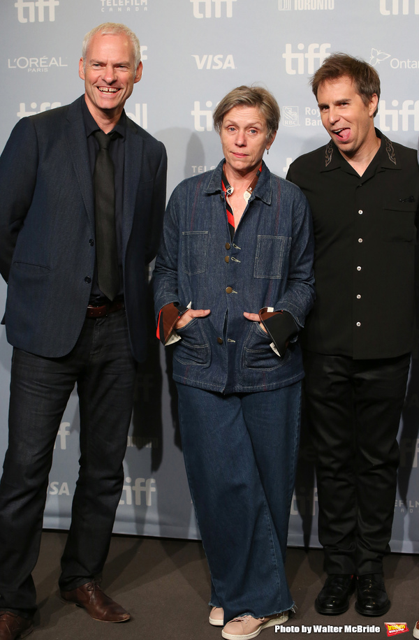 Martin McDonagh, Frances McDormand and Sam Rockwell