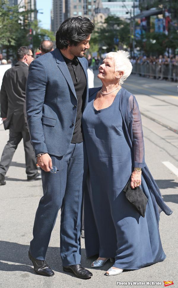Ali Fazal and Judi Dench