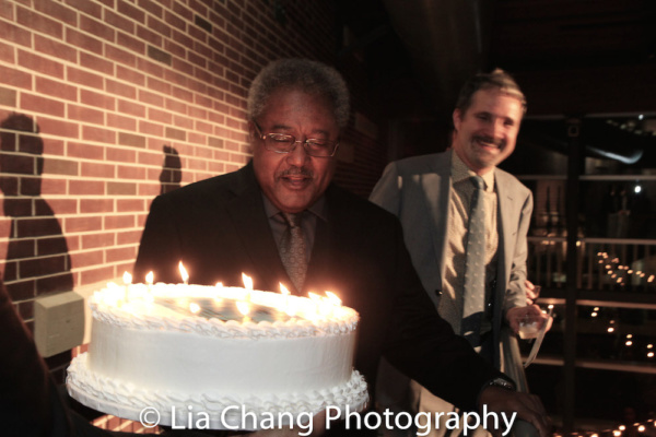 Willie Dirden celebrates his 72nd birthday and becoming a member of Actors Equity Association on opening night.