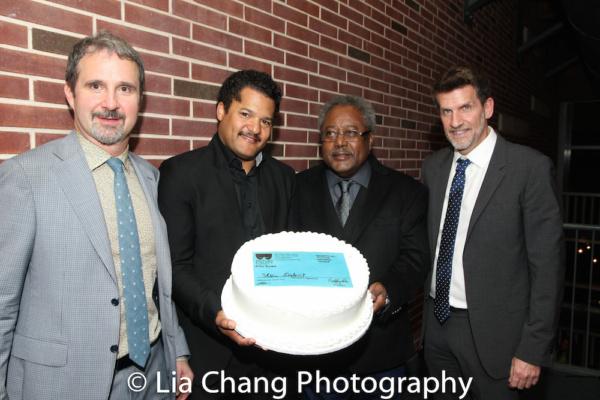 Two River Theater Artistic Director John Dias, Brandon J. Dirden, Willie Dirden and Managing Director Michael Hurst