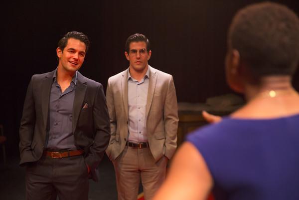 Joseph Valdez, Adrian Gonzalez and Renae-Marie Brewster