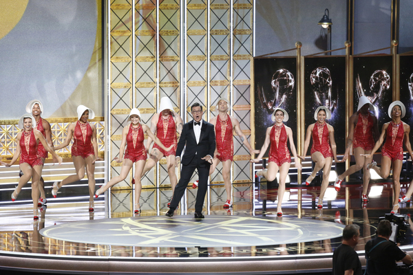 Stephen Colbert opens the show Photo
