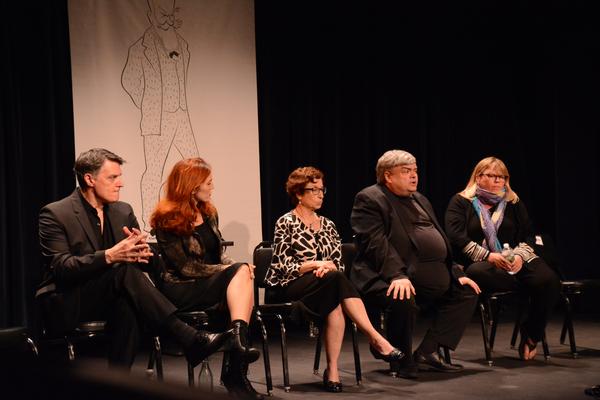 Robert Cuccioli, Mara Davi, Eileen Dolgin, Terry Teachout and Jenn Thompson