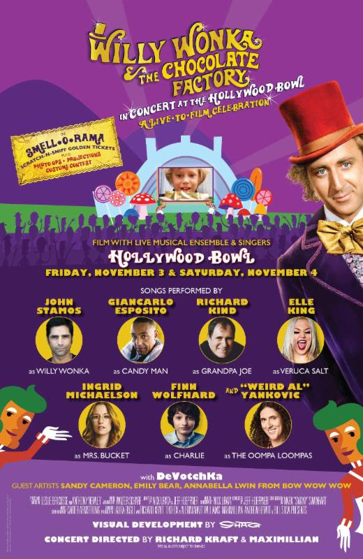 John Stamos, Weird Al to Star in WILLY WONKA AND THE CHOCOLATE FACTORY: IN CONCERT