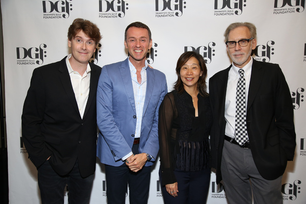 Laurence O'Keefe, Diana Son and Michael Korie with Andrew Lippa