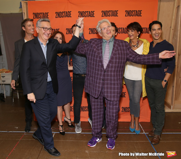 Moises Kaufman and Harvey Fierstein with cast Ward Horton, Roxanna Hope Radja, Jack DiFalco, Michael Urie, Merecedes Ruehl and Michael Rosen