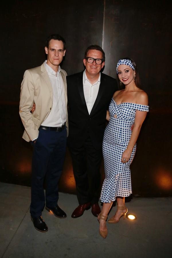 Company member Sam Archer, choreographer Sir Matthew Bourne and company member Ashley Shaw