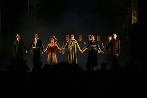 The company take their bow during the opening night performance of THE RED SHOES at Center Theatre Group/Ahmanson Theatre.