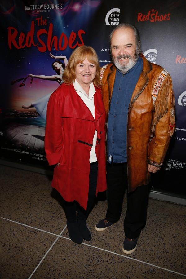 Actor Lesley Nicol and David Keith Heald