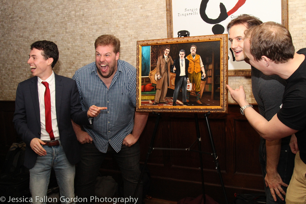 Original cast members Jonathan Sayer, Henry Lewis, Henry Shields and Greg Tannahill Photo