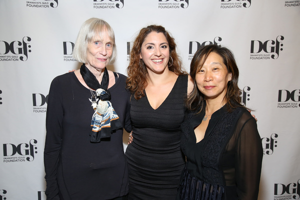 Fellow Nicole and Program Chair Diana with Playwright, Tina Howe attending the DGf:Fellows 2017 Presentation of New Works on September 18, 2017 at the Playwrights's Horizons in New York City.