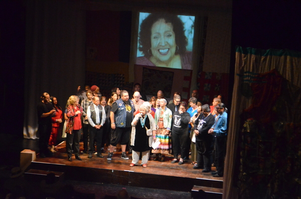 Muriel Miguel surrounded by 40th Anniversary performers, Loose Change Productions sta Photo