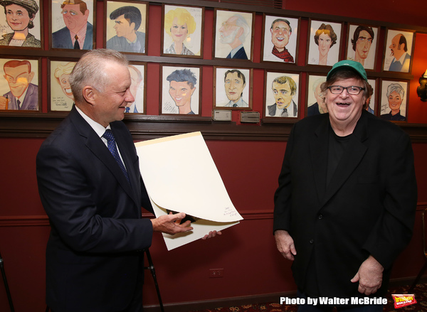 Photo Coverage: Michael Moore & Michael Mayer Unveil New Portraits for the Fabled Walls of Sardi's!