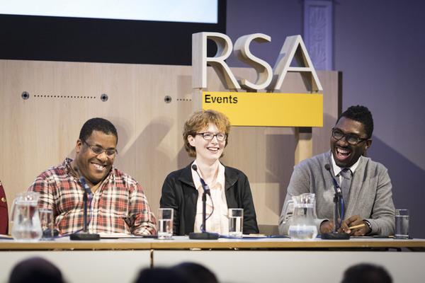 Roy Williams, Rosemary Jenkinson and Kwame Kwei-Armah