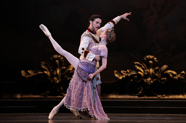 Ballet: Mayerling Choreographer: Sir Kenneth MacMillan Dancer(s): Connor Walsh as Prince Rudolf and Sara Webb as Countess Marie Larish Photo: Amitava Sarkar Year: 2017