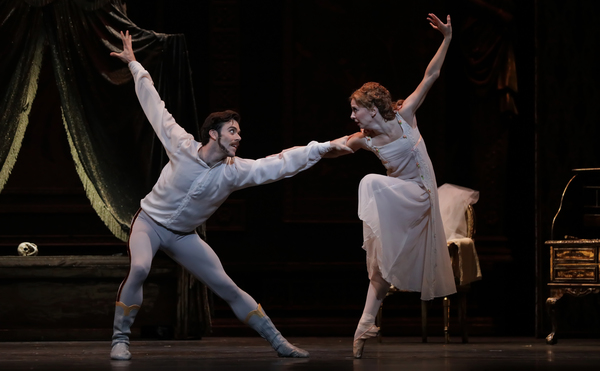 Ballet: Mayerling Choreographer: Sir Kenneth MacMillan Dancer(s): Connor Walsh as Prine Rudolf and Melody Mennite as Pricess Stephanie Photo: Amitava Sarkar Year: 2017