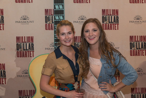 Opening night of Million Dollar Quartet attracted Paramount veteran actors Kiersten Frumkin, who starred as Sophie Sheridan in Paramount's 2016 production of Mamma Mia!, and Haley Jane Schafer, ensemble member in last season's Disney's The Little Me