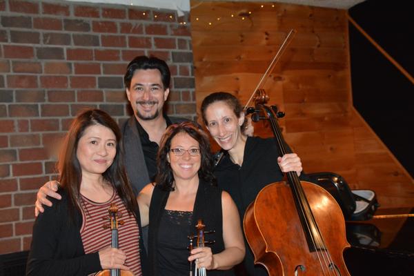 Hiroka Taguchi (Violin), Jonathan Weber (Violin), Denise Stillwell (Viola) and Alliso Photo