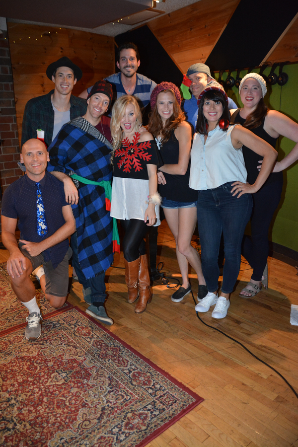 Daniel Lincoln joins the singers-Travis Taber, Jerad Bortz, Jonathan Ritter, Libby Servais, Courtney Iventosch, Chad Jennifer, Hannah Dowdy and Miriand Torres