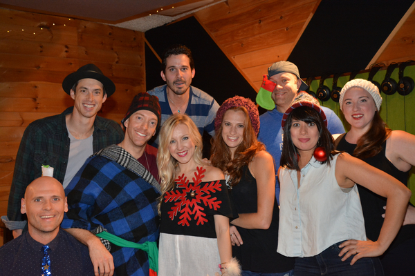 Daniel Lincoln with the singers-Travis Taber, Jerad Bortz, Jonathan Ritter, Libby Servais, Courtney Iventosch, Chad Jennifer, Hannah Dowdy and Miriand Torres