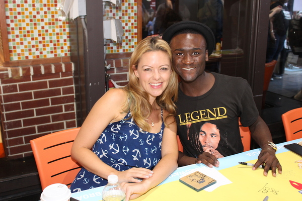 Kate Rockwell and Zachary Downer