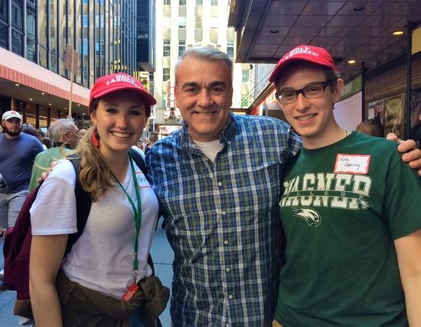 Charlie Siedenburg with Kirsten Kaiserh and Nicholas Gerrity